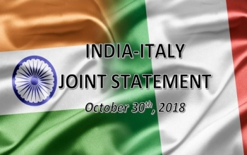 India-Italy Joint Statement during visit of Prime Minister of Italy to India on October 30, 2018