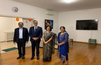 Ambassador meeting Dignitaries