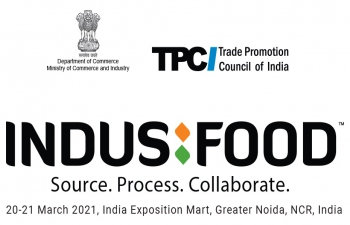 Fourth Edition of 'IndusFood' on 20-21 March 2021 at India Exposition Mart, Greater Noida.