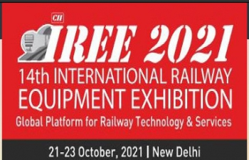 IREE 2021 - 14th International Railway Equipment Exhibition - Global Platform for Railway Technology & Services from 21-23 October, 2021