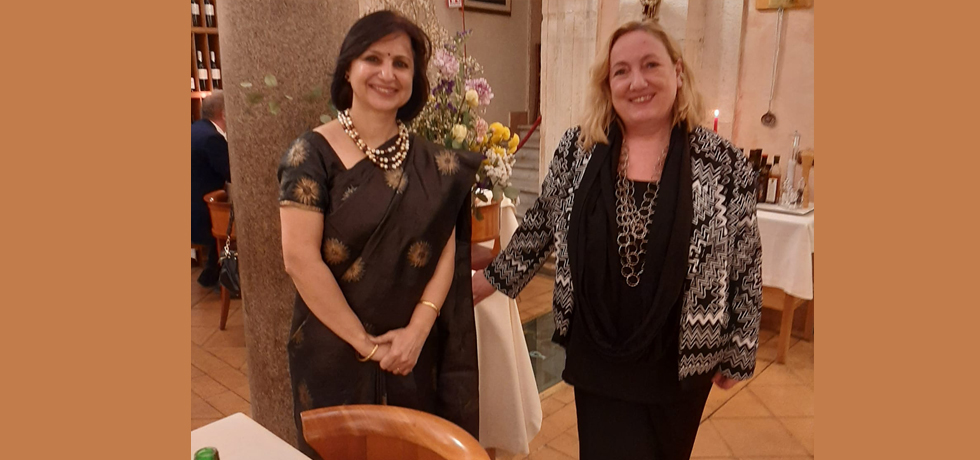 Ambassador Dr Neena Malhotra with Emanuela C.Del Re, former Deputy Foreign Minister and MP