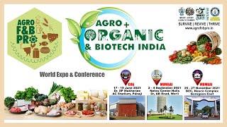Food & Beverage Pro + Agro Organic World Expo'21 at Goa & Mumbai