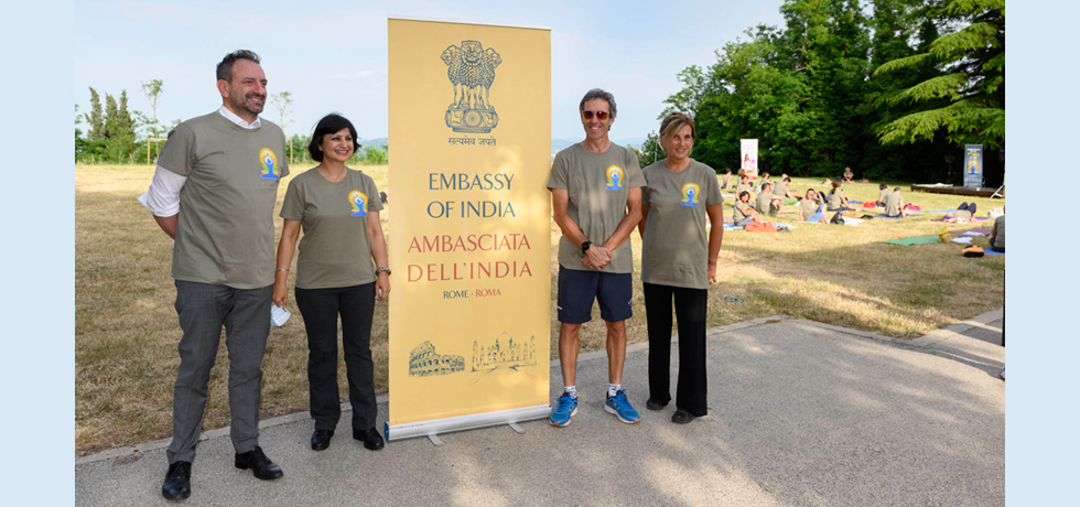 Celebration of the 7th International Day of Yoga in San Marino  (18 June 2021)