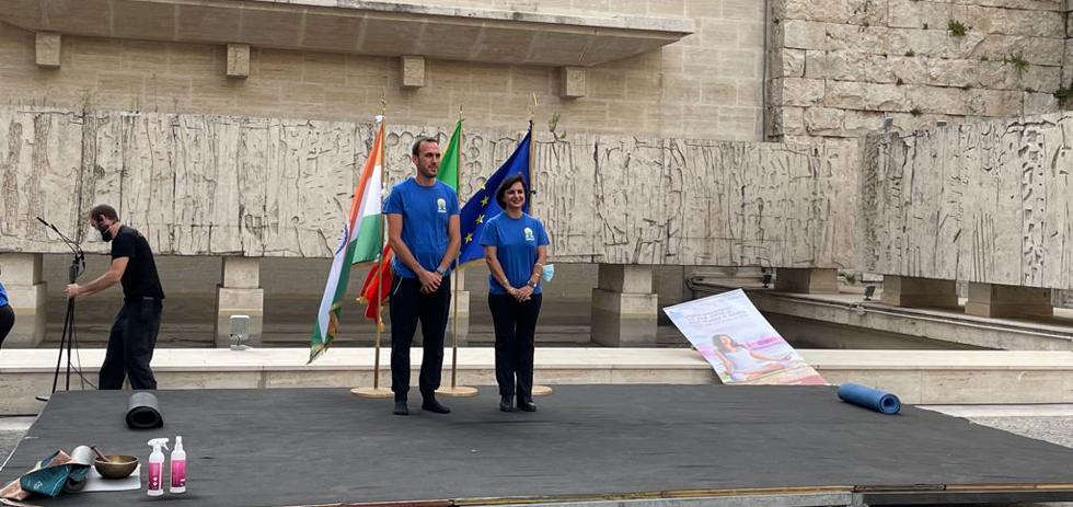 Celebration of the 7th International Day of Yoga at Italian Ministry of Foreign Affairs in Rome  (21 June 2021)