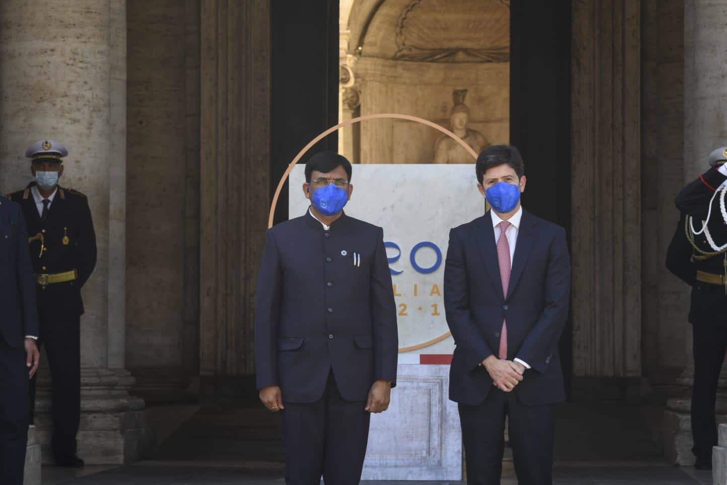 Visit of Hon'ble Health Minister Shri Mansukh Mandaviya to Rome on the occasion of G20 Health Ministers' Meeting (Sept. 5/6, 2021)